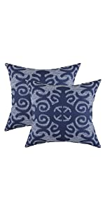 TreeWool Navy Blue Throw Pillow Cover - Fleur Accent