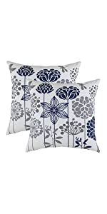 TreeWool Throw Pillow Cover Navy