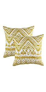 TreeWool Throw Pillow Cover Mustard