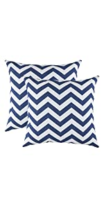 TreeWool Navy Blue Throw Pillow Cover - Chevron