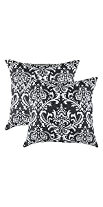 TreeWool Throw Pillow Cover Black