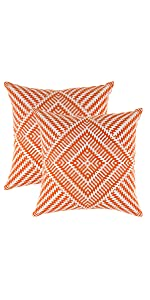 TreeWool Throw Pillow Cover Orange