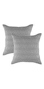TreeWool Throw Pillow Covers - Grey