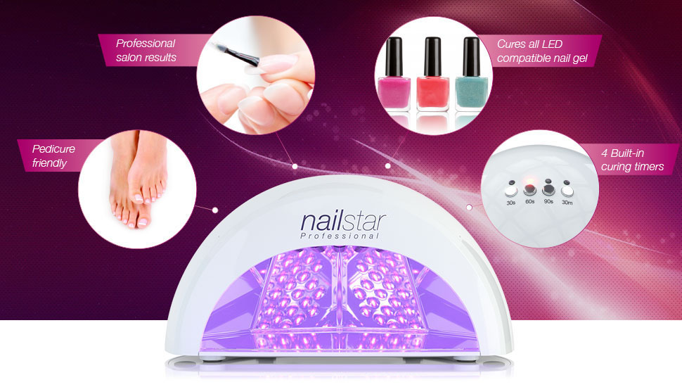 Amazon.com: NailStar Professional LED Nail Dryer Nail Lamp for Gel ...