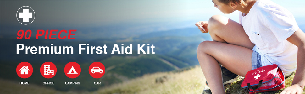 The Body Source First Aid Kit 90 Piece