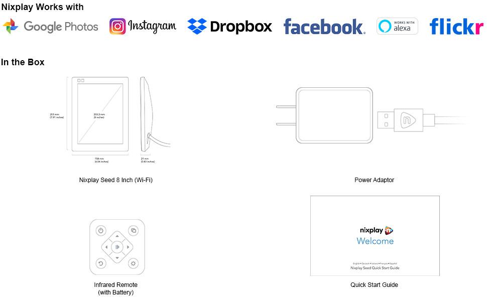 Amazon.com: Nixplay Seed - Marco de fotos digital WiFi de 13 ...