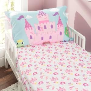 Everyday Kids Toddler Bed Sheets - Toddler Girls Sheets Set - Girls Toddler Bedding Set