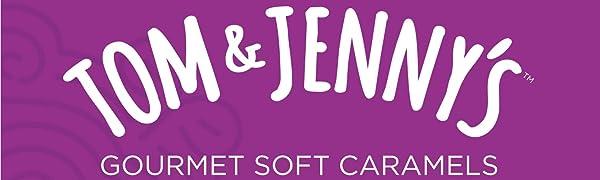 Tom And Jenny's Gourmet Soft Caramels Logo