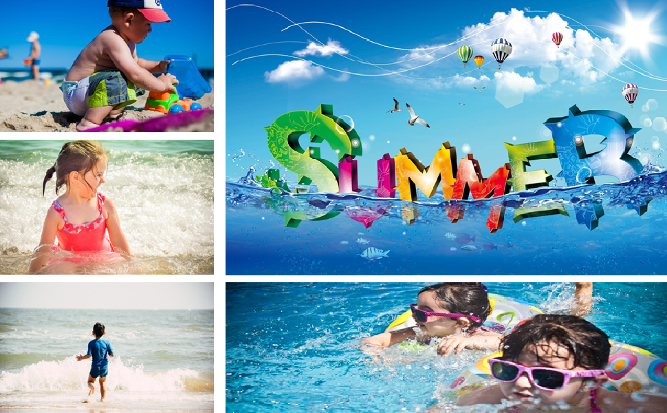 FASUWAVE Mens Swim Trunks Poker Printing Quick Dry Beach Board Shorts with Mesh Lining