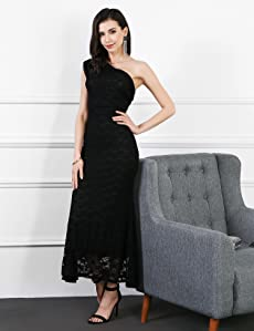 One shoulder design never out of date, great for all seasons, combination fashion and sexy, you will get many compliments. This Long dress ...