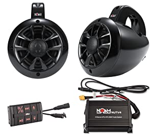 noam nutv4 marine bluetooth atv golf cart utv speakers stereo system automotive. Black Bedroom Furniture Sets. Home Design Ideas
