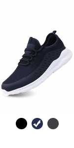 DEARWEN Men's Breathable Mesh Sports Walking Shoes Lightweight Athletic Running Sports Shoes