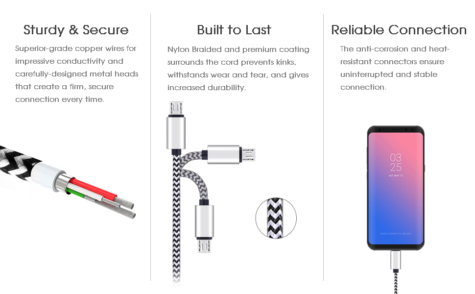 Micro USB Port Connector America Lips Flag We Love You America Universal 3 in 1 Multi-Purpose USB Cable Charging Cable Adapter for Mobile Phones and Tablets
