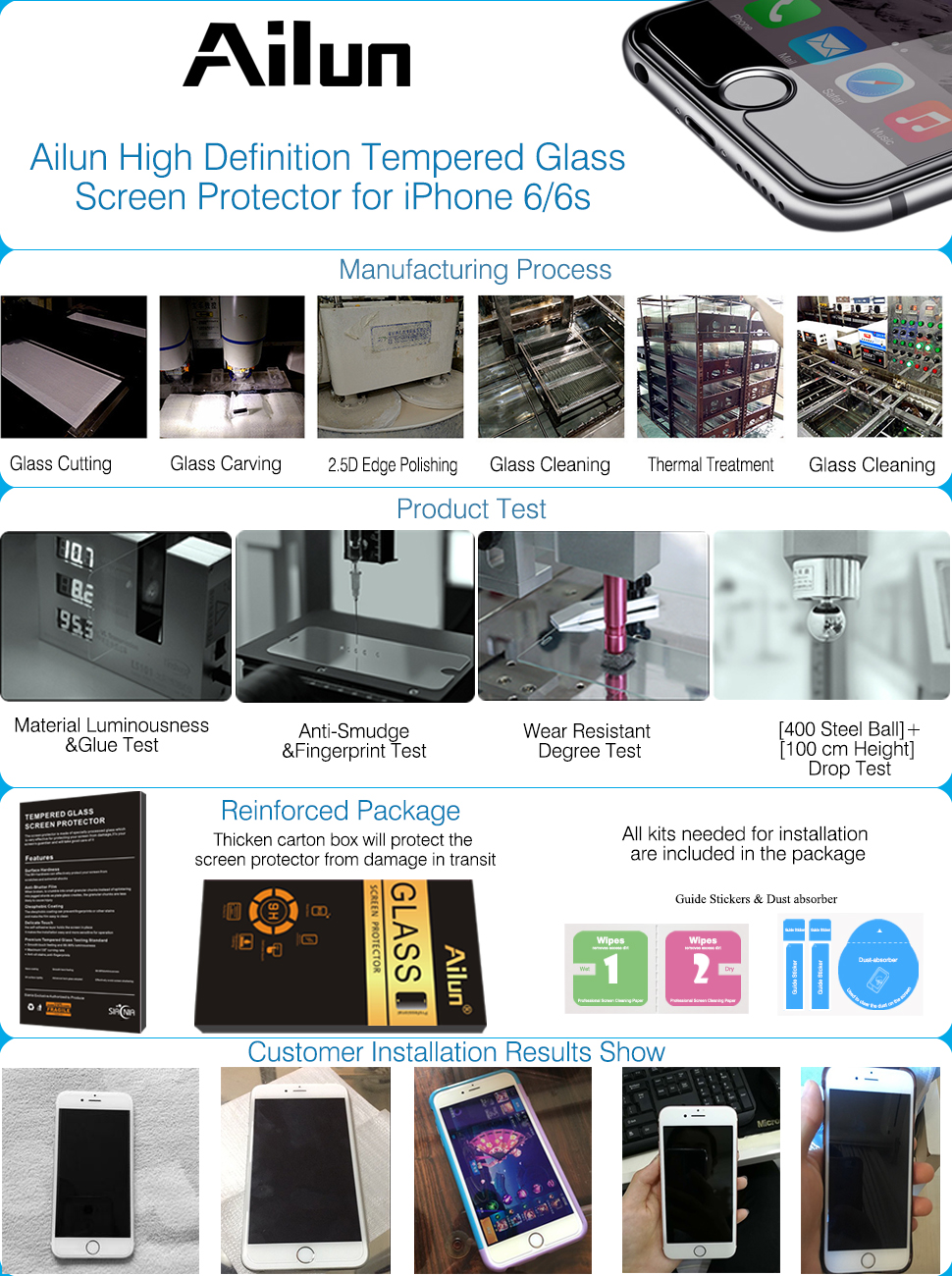 Amazon.com: iPhone 6s Screen Protector,iPhone 6 Screen