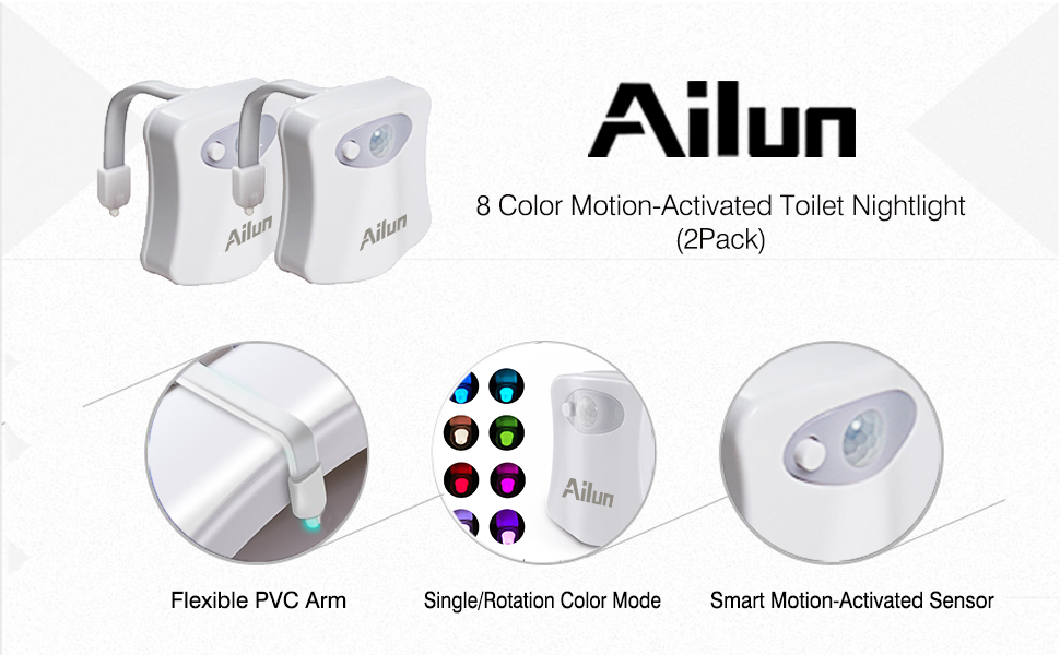 Ailun Motion Sensor Light Lamp 3Pack Accessories