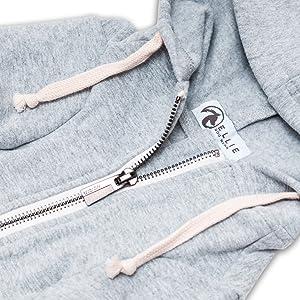 ellie dog wear grey hoodie 3