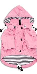 pink dog raincoat