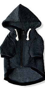 dark grey dog hoodie