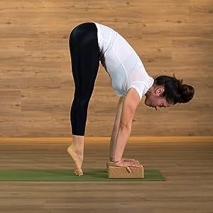 Amazon.com : YOGABODY Bundle - 2 Items: Cork Yoga Block ...