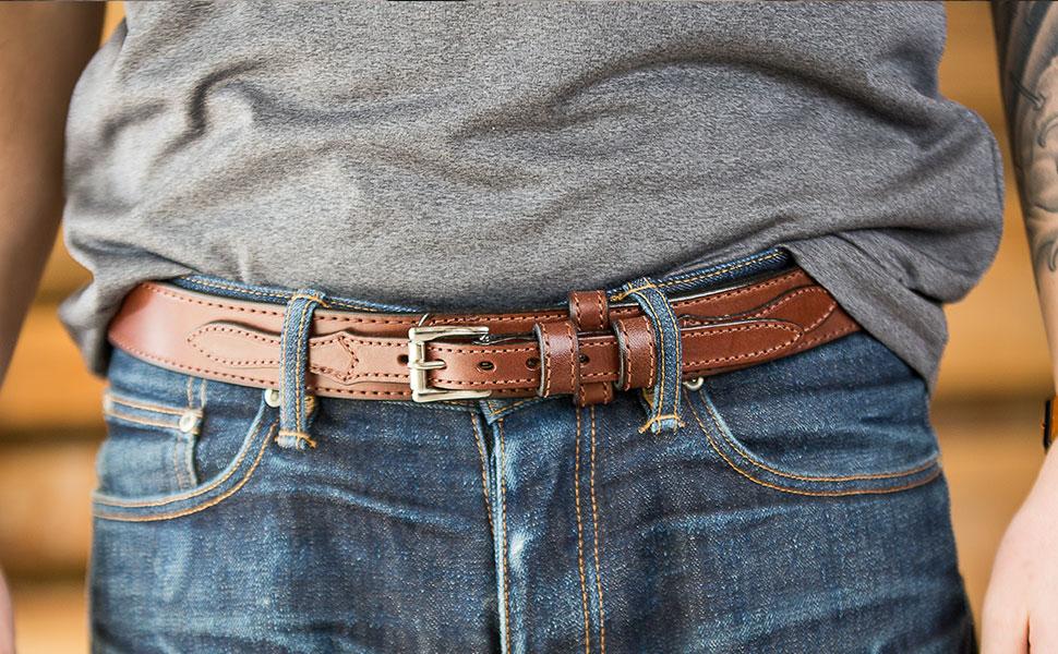 Amazon Com Hanks Ranger Belt 1 5 Quot Men S Leather Casual