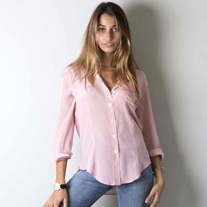 663a7052ec2c3 CAMIXA Womens 100% Silk Blouse Long Sleeve Ladies Shirts Slim-fit ...
