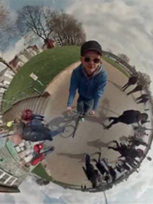 How does the fish-eye lens take a panoramic view