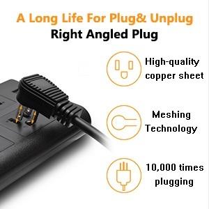 right angled plug