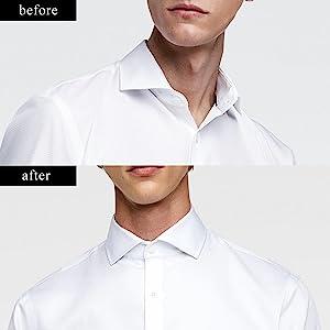 01 Jovivi 40pcs Stainless Steel Collar Stays for Mens Dress Shirt 2 Sizes Set w//Box AJ10102334 2.5+ 2.75 Set