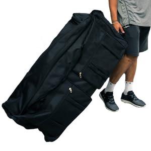 5487f6c0448 Gothamite 42-inch XL Duffle Bag with Wheels   Sports Bag   Travel Luggage    Hockey Bag   Rolling Wheeled Duffle Bag