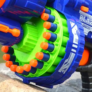 Foam Dart Machine Gun Motorized Automatic Blaster Kids Toy NEW Refill Nerf