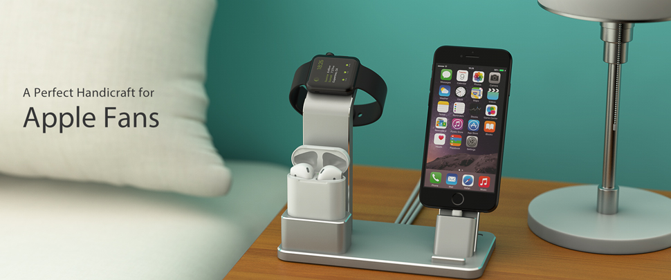 Amazon.com: YoFeW Charging Stand for Apple Watch Aluminum