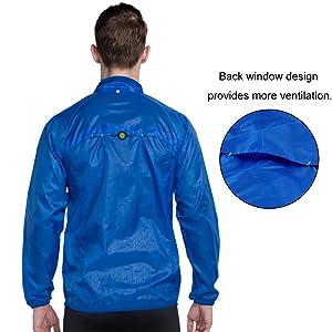 VUTRU Mens Running Jacket Lightweight Wind Jacket Breathable Packable Skin Coat Windbreaker