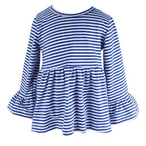1d3f325ed Amazon.com: Wennikids Little Girls' Long-Sleeve Ruffle T-Shirt: Clothing