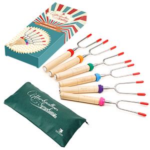 Marshmallows Sticks Camping Gifts Sweet Treats