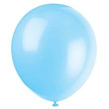Color: sky blue balloons, baby blue balloons, white balloons, gold confetti balloons
