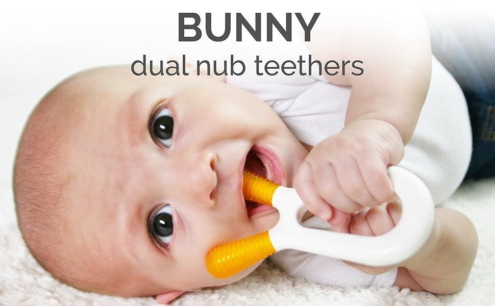 ZoLi, BUNNY, teether, ZoLi baby, baby teether, best teether, dual nub teether