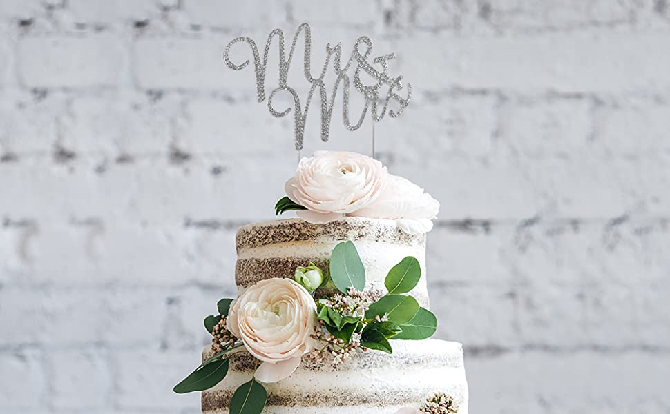 mr and mrs cake topper wedding anniversary vow renewal bridal decorations decoration toppers &