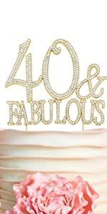 40 cake topper 40th birthday anniversary party decorations decoration forty toppers