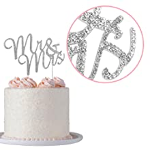mr and mrs cake topper wedding anniversary vow renewal bridal