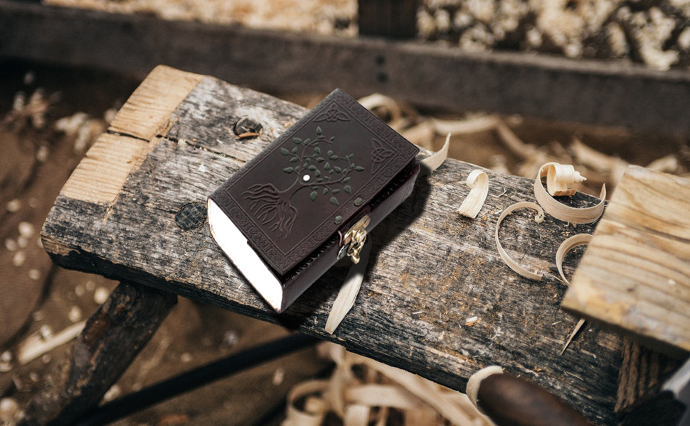 Antique handcrafted genuine leather journal notepad travel diary writing carry on gift men women