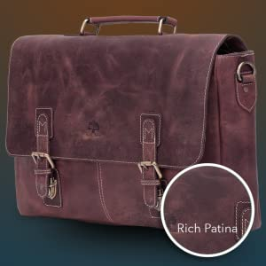 premium quality leather shoulder briefcase satchel messenger crossbody men women gifts genuine