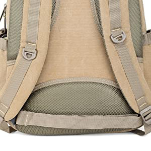 canvas backpack vintage mens stylish fancy laptop compartment school office travel Bookbag Daypack