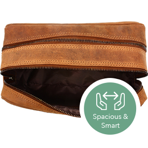 Genuine Leather Toiletry Bag cosmetic hanging dopp kit mens bathroom organizer gift Men Women