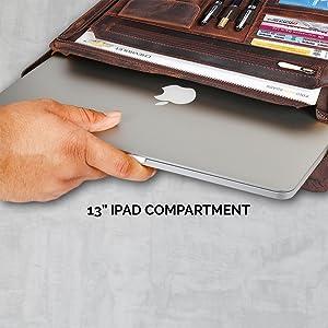 Zippered Padfolio Portfolio Interview Resume Document Organizer Internal Holders iPad Tablet holder