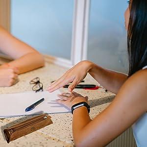 handmade vintage Genuine Leather Pencil case pouch roll Pen Brown kids sketching holder men women