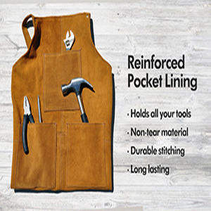 leather apron with tools