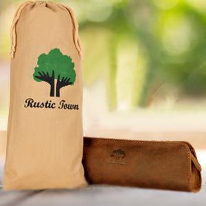 vintage genuine leather Cosmetic Pen Pencil Stationery Pouch Bag Case ProCase Pencil Bag Pen Case