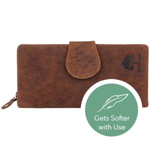 Women RFID Blocking Wallet Leather Zip Around Phone Clutch Large Travel Purse