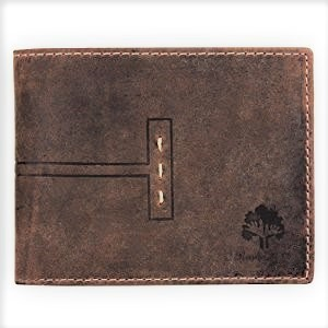 handcrafted genuine leather RFID wallet travel purse for mens boys gift credit card slots money