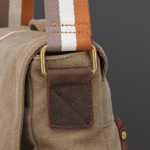 Laptop Messenger Bag Mens Canvas Shoulder Bag Large crossbody Briefcase men women Work